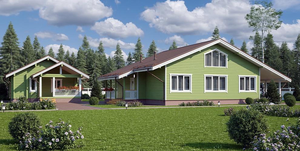 Дачный дом из бруса 6 х 6, проект дачного дома 6 на 6